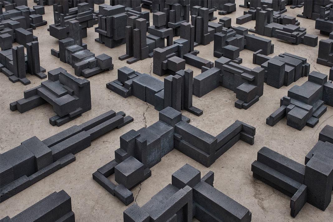 Antony Gormley Fit at White Cube Bermondsey