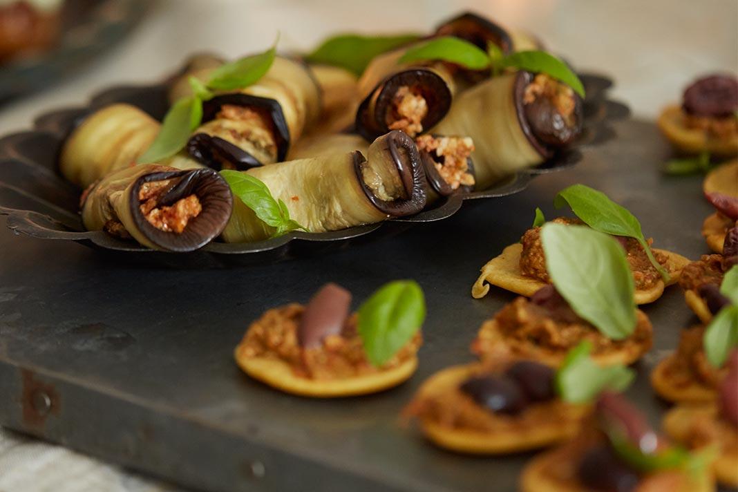 Deliciously Ella's Healthy Recipe for Aubergine & Tomato Pesto Rolls