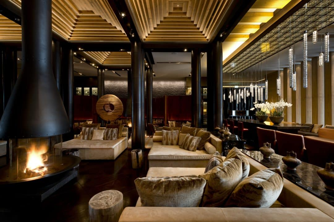 Chedi Andermatt fire place