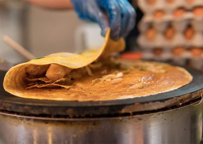Jianbing pancake day chinatown