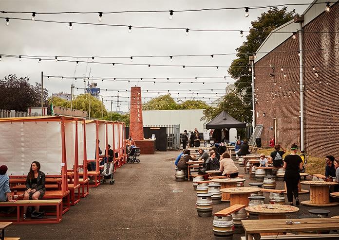 Truman social club beer garden