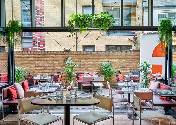 Bala Baya outdoor restaurant London, al fresco terrace
