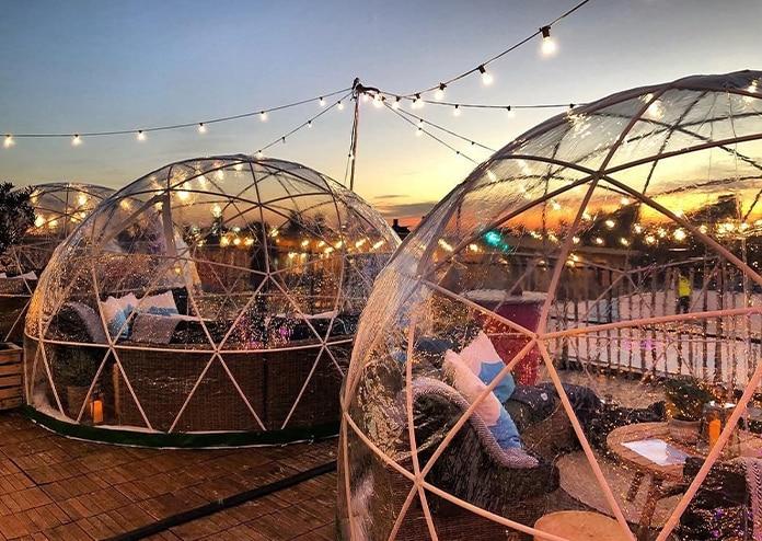 Skylight London, igloo - Halloween in London 2020
