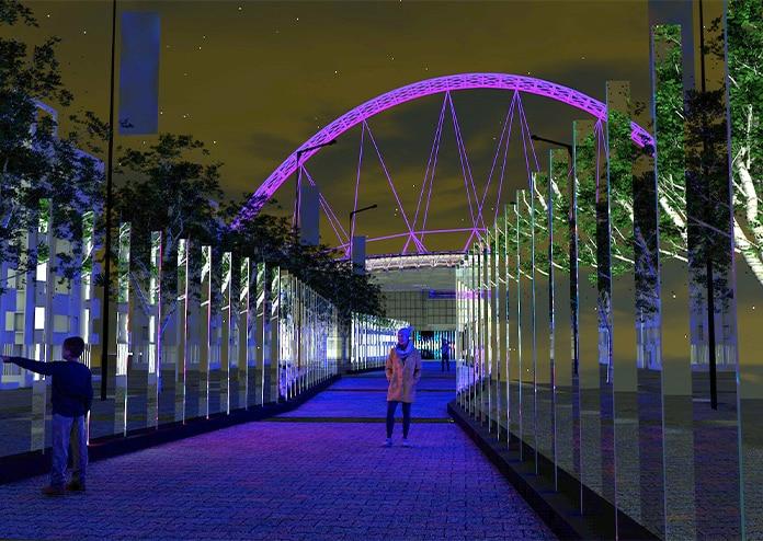 Winterfest Wembley Park London Christmas Lights 2020