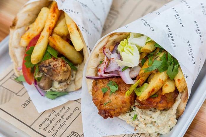 The Athenian vegan junk food