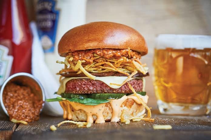 Honest Burger vegan burger for Veganuary