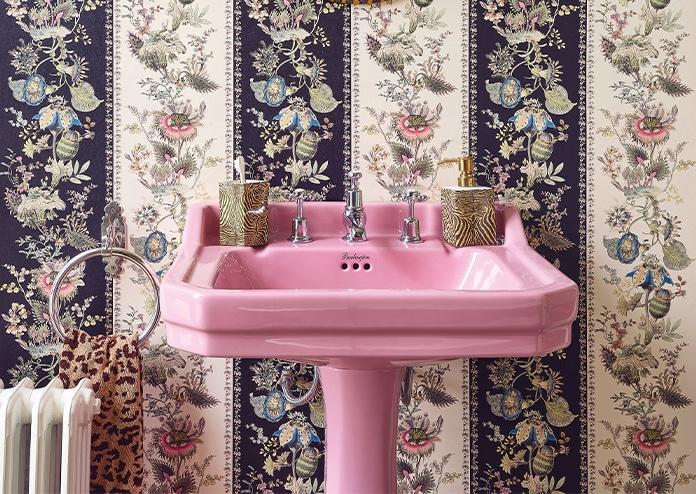 House of Hackney Bathroom with pink sink