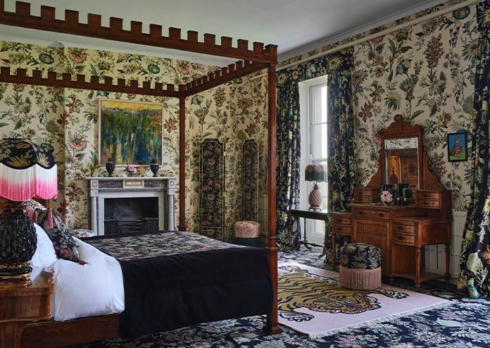 Interiors, bedroom in House of Hackney