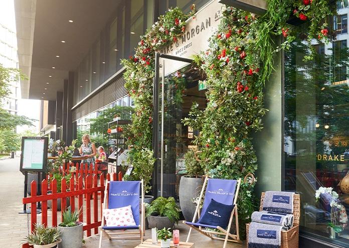 Strawberry Fields - Drake & Morgan King's Cross, London pop-ups summer 2020