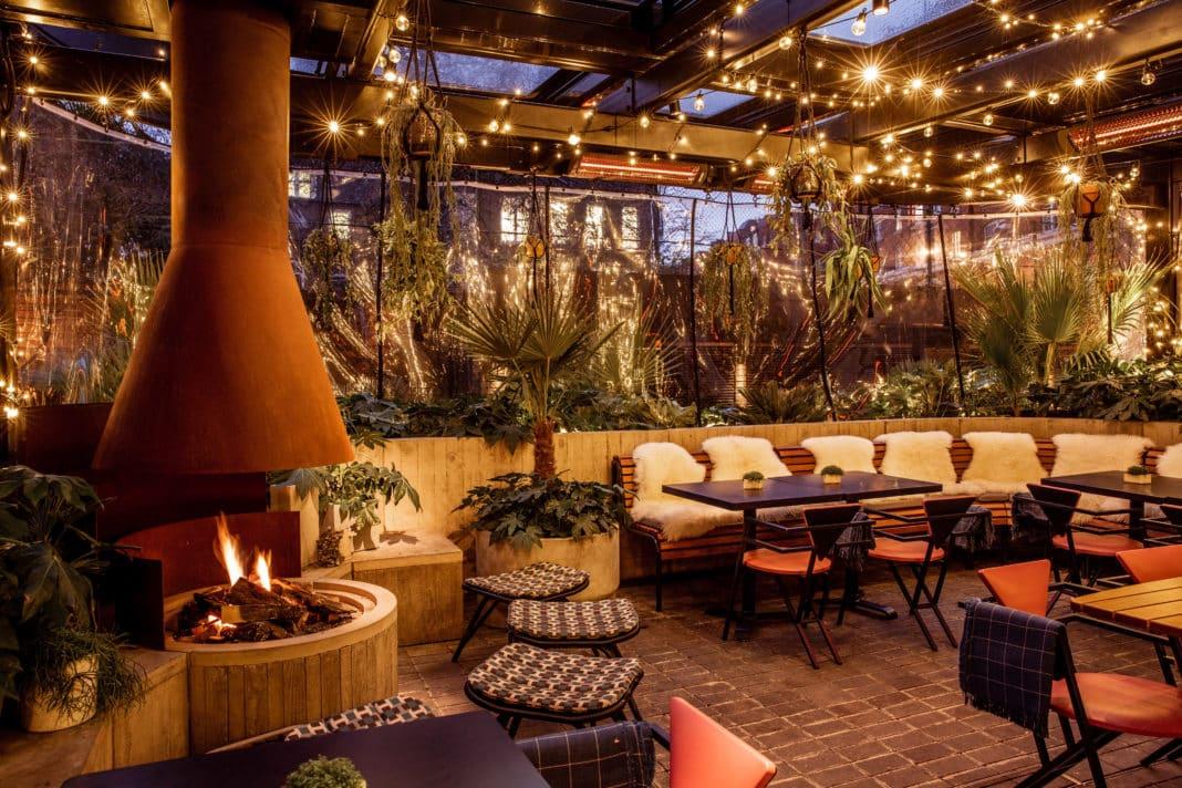 Double Standard Winter Terrace Outdoor Dining in London