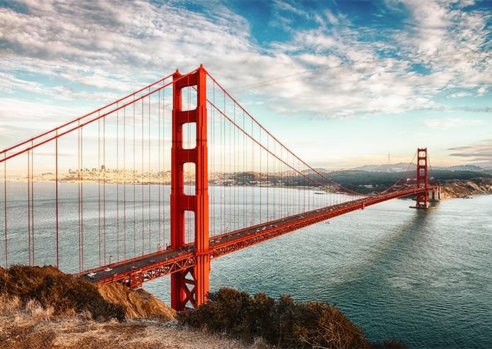 Golden Gate Bridge - best US states to visit