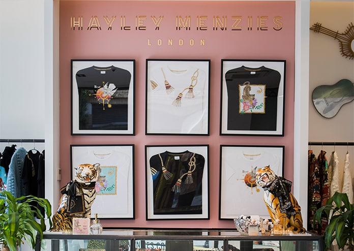 Hayley Menzies Pop-Up Shop decor