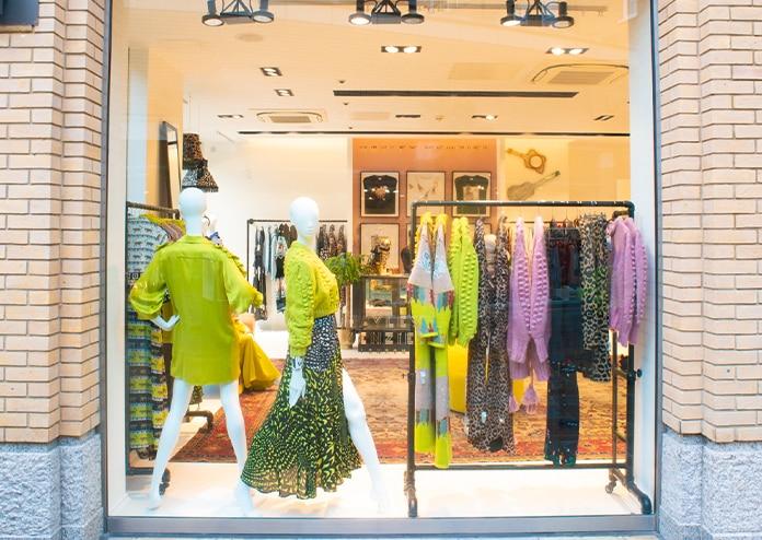 Hayley Menzies pop-up shop window