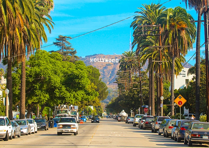 Hollywood Sign - best US states to visit