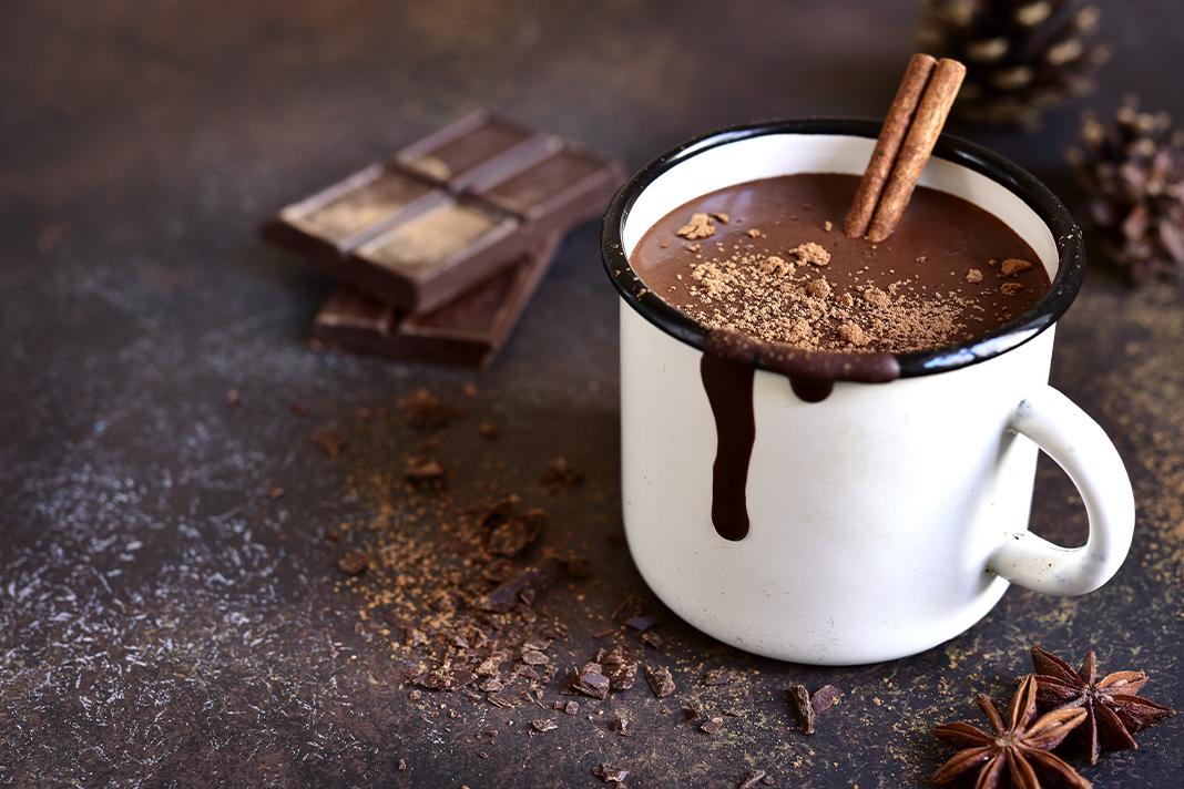 Hot Chocolate with alcohol, boozy hot choc recipe