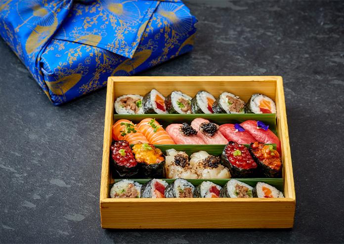 Hot Stone Omokase Box Valentine's Day Dinner Delivery