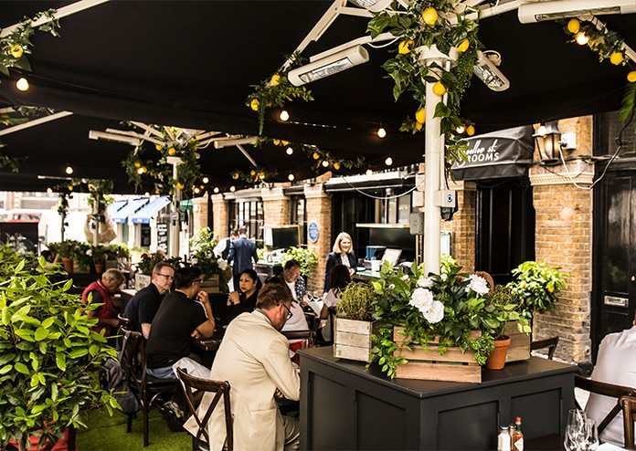 Bentley's Oyster bar and grill outdoor dining terrace