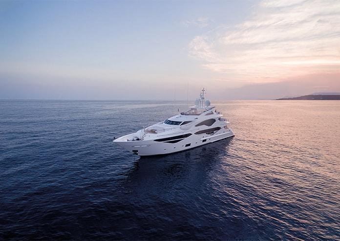 Superyacht At Sea