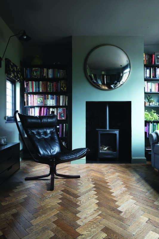 Oak Aged Parquet Ebony Oiled The Natural Wood Floor Company